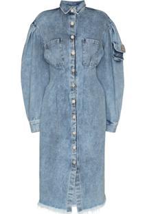 Natasha Zinko Vestido Jeans Midi - Azul
