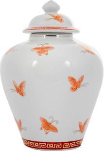 Vaso Decorativo De Porcelana Cambará - Linha Butterfly