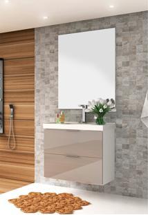 Conjunto Para Banheiro Pietra Branco/Gianduia Brilho Bosi
