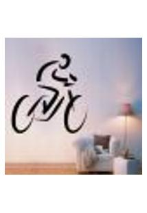 Adesivo De Parede Ciclismo Moutain Bike - M 48X46Cm