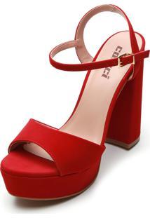 Sandália Colcci Tiras Vermelha