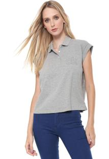 Camisa Polo Calvin Klein Poás Cinza