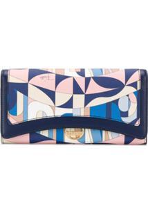 Emilio Pucci Carteira Com Estampa Abstrata - Azul