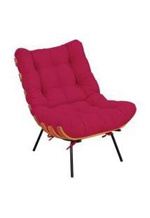 Poltrona Decorativa Sala De Estar Costela Suede Pink - Lyam Decor