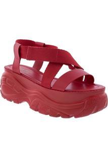 Sandã¡Lia Zatz Chuncky Flatform Vermelha - Vermelho - Feminino - Dafiti