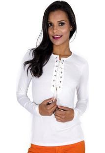 Blusa Amarração Colcci - Feminino-Off White