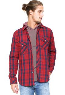 Camisa Malwee Xadrez Slim Vermelha