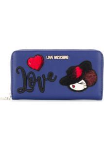 Love Moschino Carteira 'Love' - Azul
