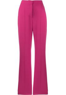 Escada Sport Flared Tailored Trousers - Rosa