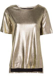 Blusa Bobô Nati Malha Dourado Feminina (Dourado, G)