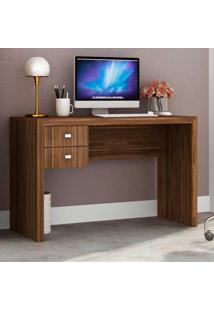 Mesa Para Computador 2 Gavetas Me4123 Nogal - Tecno Mobili