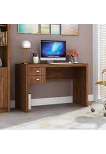 Mesa Para Escritório 2 Gavetas Me4123 Nogal - Tecno Mobili