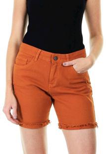 Bermuda Jeans Sarja Feminina - Caramelo - Feminino - Dafiti