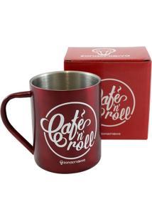 Caneca De Aço Café N' Roll