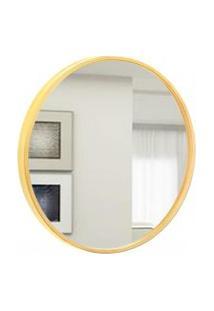 Espelho Decorativo Round Externo Amarelo 20 Cm Redondo