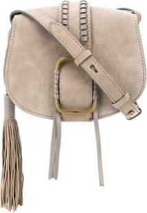 Ba&Sh Teddy Buckled Crossbody Bag - Cinza