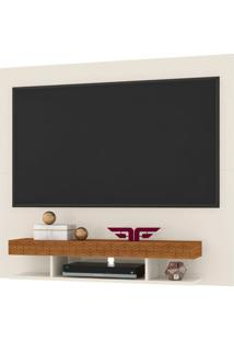 Painel Home Suspenso Para Tv Atã© 47/50 Polegadas Clean Off White/Coral - Frade Movelaria - Off-White - Dafiti