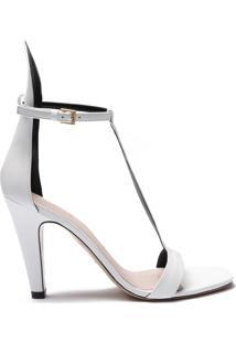 Sandália Special Italian Mid Heel White | Schutz
