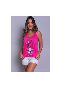 Pijama Bella Fiore Modas Short Doll Tal Máe Pink