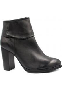 Bota Ankle Boot Zariff Shoes Couro Salto Alto