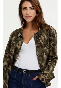 Jaqueta Feminina Estampa Camuflada