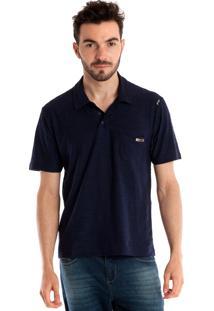 Camisa Polo Konciny Manga Curta Azul Marinho