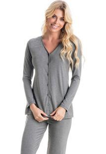 Pijama Blush Longo Abotoado