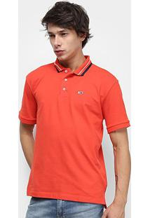 Camisa Polo Tommy Jeans Classics Stretch Masculina - Masculino-Vermelho