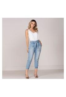 Calça Altoplano Clochard Jeans Azul