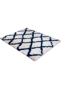 Tapete De Banho Em Poliéster Levitare Descanso 70X50Cm Azul