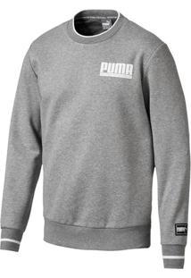 Blusa Moletom Puma Style Athletics Fabrc Crw