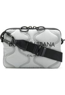 Dolce & Gabbana Bolsa Tiracolo Matelassê Com Zíper - Cinza