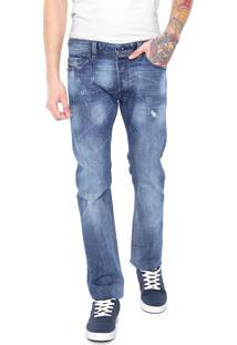 Calça Jeans Diesel Reta Estonada Azul