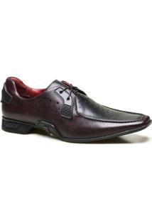 Sapato Casual Couro Calvest Perfuros Masculino - Masculino