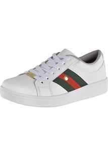 Tênis Cr Shoes Super Leve Com Faixas Laterais Branco