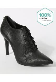 Ankle Boot Em Couro Preta - Jorge Bischoff - 36