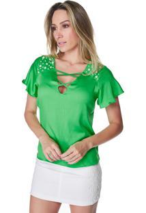 Blusa Celestine Bordada Verde
