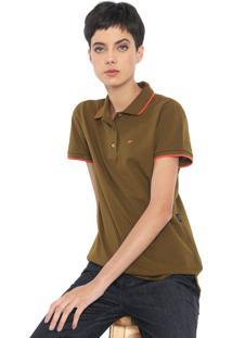 Camisa Polo Ellus Asa Verde/Laranja