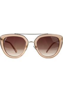 Óculos De Sol Atitude At3244 T01/52 Bege/Dourado