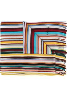 Paul Smith Cachecol De Lã Com Listras - Vermelho