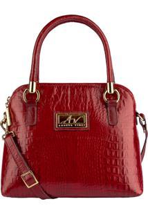 Bolsa Andrea Vinci De Mã£O Em Couro Donna Vermelha - Vermelho - Feminino - Dafiti