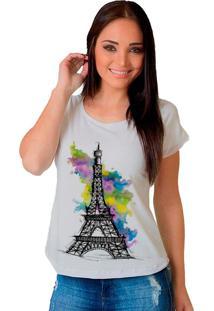 Camiseta Shop225 Torre Eiffel Color Branco - Branco - Feminino - Dafiti