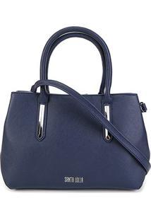 Bolsa Santa Lolla Handbag Risco Feminina - Feminino-Marinho