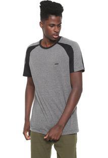 Camiseta Mcd Raglan Function Cinza/Preta