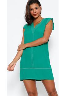 709a33199 ... Vestido Com Pespontos - Verde - Colccicolcci