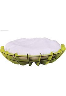 Puff Pet Arena Menor Estrutura Verde Almofada Branca 65Cm - 62265 - Sun House