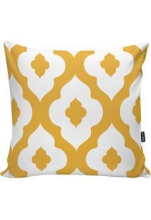 Capa De Almofada Geometric- Branca & Amarela- 45X45Cstm Home
