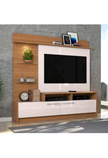 Estante Para Home Theater E Tv Até 60 Polegadas Ipanema Natura E Off White