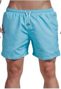 Short Verão Liso Impermanence Curto Masculino - Masculino-Azul