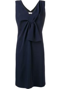 Lanvin Vestido Com Detalhe De Nó - Azul